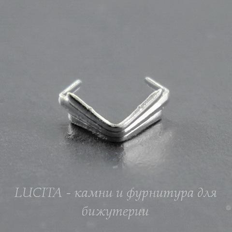 Держатель кулона (цвет - серебро) 6х5х3 мм, 5 штук