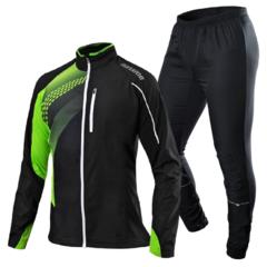 NONAME PRO RUNNING костюм для бега черный-лайм