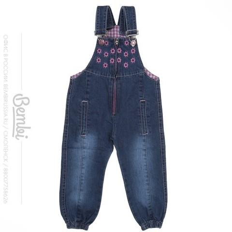 ПК109 Полукомбинезон джинсовый для девочки
