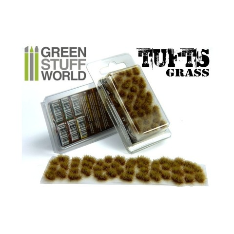 Grass TUFTS - 6mm self-adhesive - DRY BROWN