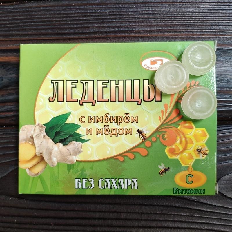 Фотография Леденцы с имбирем и медом, 10 шт. купить в магазине Афлора