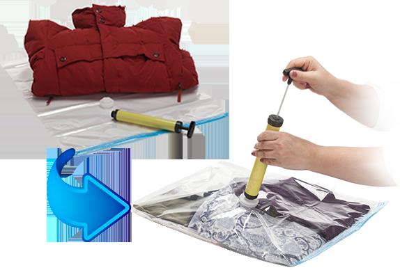 Товары для дома Набор вакуумных пакетов для хранения с насосом nabor-vakuum5.png