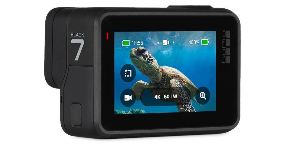 Экшн-камера GoPro HERO7 Black Edition (CHDHX-701-RW) ЖК экран крупно