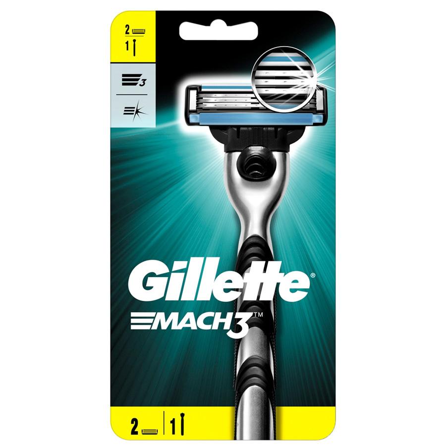 Бритвенный станок Gillette Mach3 с 2 кассетами
