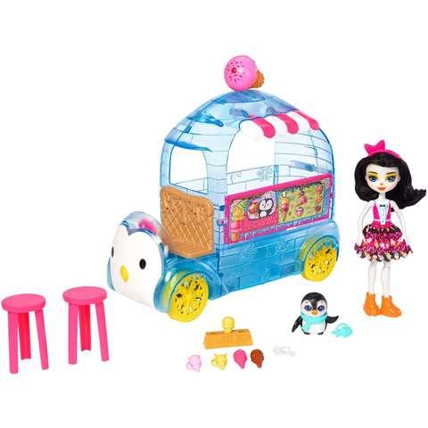 Кукла Энчантималс Прина Пингвин и Фургончик мороженого - Enchantimals, Mattel