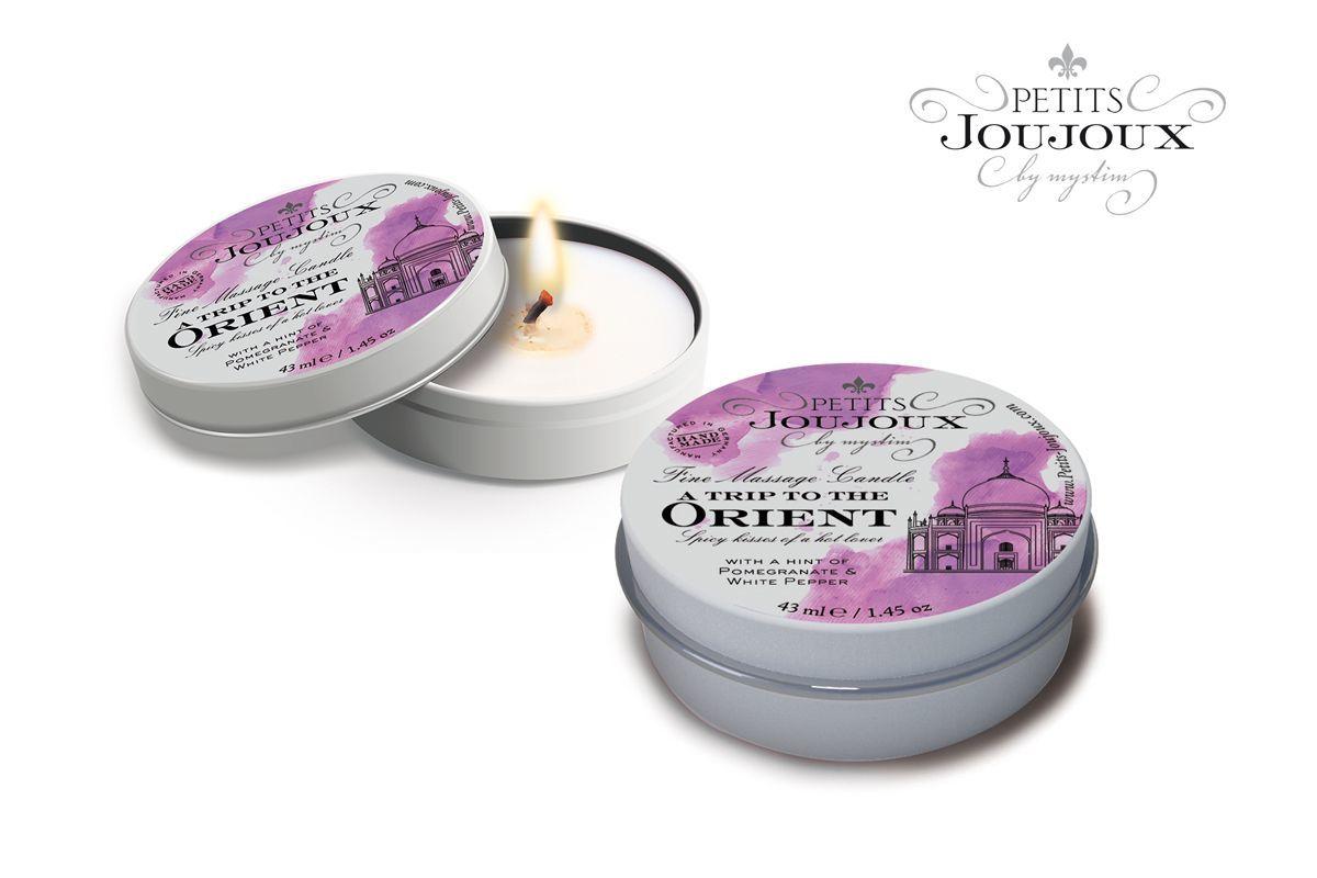 Массажные масла и свечи: Массажная свеча Petits Joujoux Orient с ароматом граната и белого перца - 33 гр.