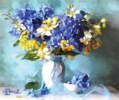 Нежные цветы - набор для вышивания бисером, 542