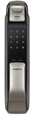 Врезной электронный дверной замок Samsung SHP-DP728 Dark Silver с отпечатком пальца