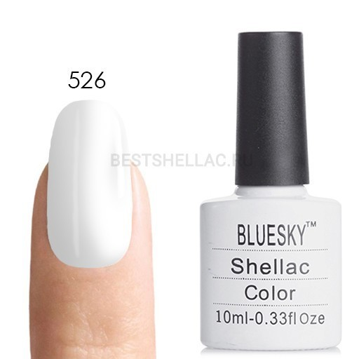Bluesky Shellac 40501/80501 Гель-лак Bluesky № 40526/80526 Studio White, 10 мл 526.jpg