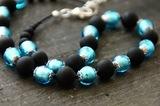 Ожерелье Domino голубое