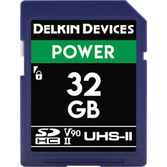 Карта памяти Delkin Devices 32GB SDXC Power UHS-II 2000x
