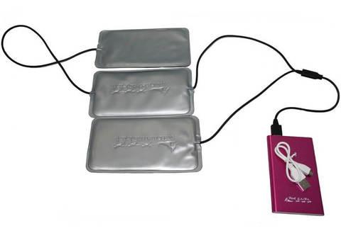 Греющий комплект Redlaika для любой одежды ЕСС ГК3-USB (3 модуля+PowerBank)