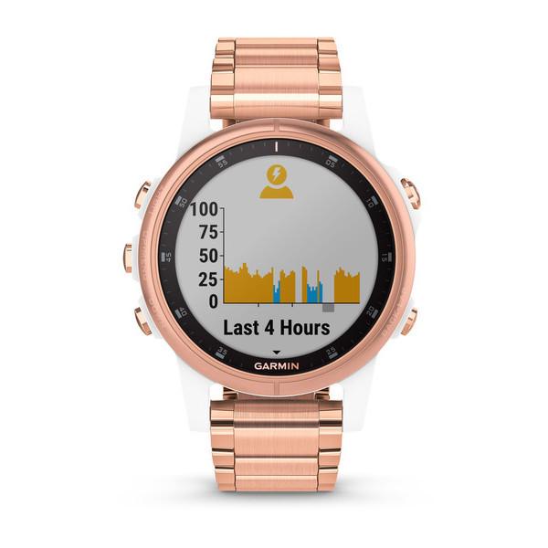 Fenix 5s Plus Sapphire розовое золото с золотистым металлическим ремешком