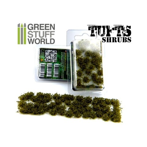 Shrubs TUFTS - 6mm self-adhesive - DARK GREEN