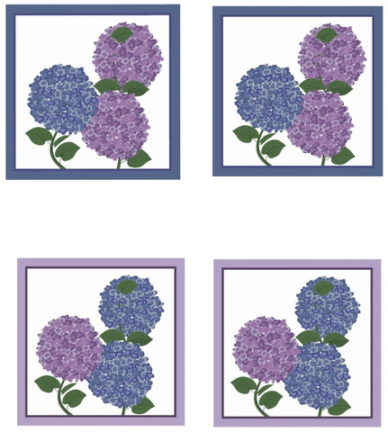 Салфетки 4 шт 40x40 Blonder Home Florence синие