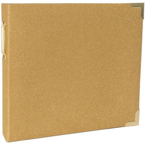 Папка на кольцах 20*20 см для Project Life. Ламинированная обложка. Цвет GOLD
