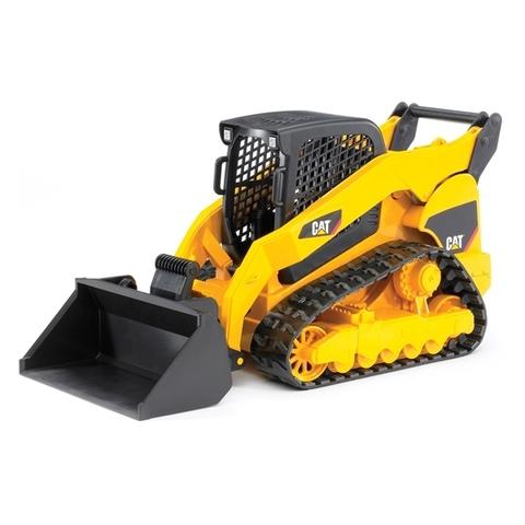 Bruder: Мини-погрузчик гусеничный CAT с ковшом, 02-136 — CAT Caterpillar Compact Track Loader — Брудер