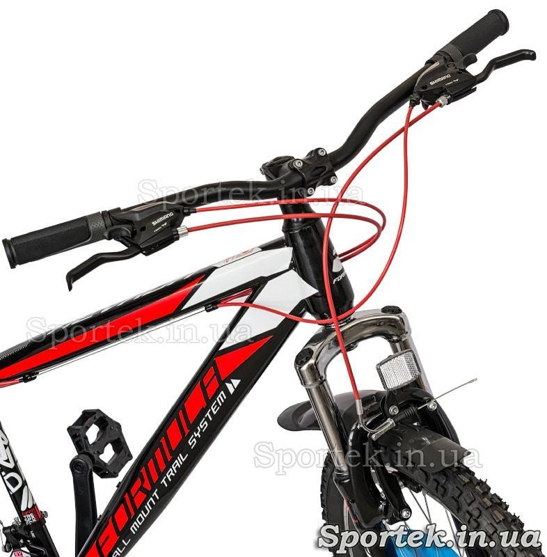 Амортизационная вилка и руль городского велосипеда Formula Nevada