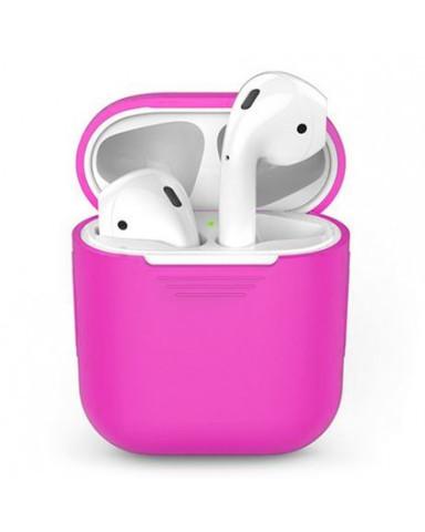 Чехол на AirPods (розовый) силиконовый