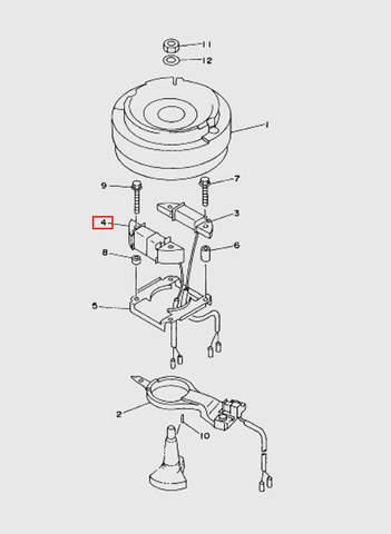 Катушка световая  для лодочного мотора T15, OTH 9,9 SEA-PRO (8-4)