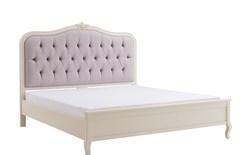 """Кровать """"Флоранс 200x160 (Florence)"""" (изголовье - ткань NDS150) — Молочный (MK-5021-AW)"""