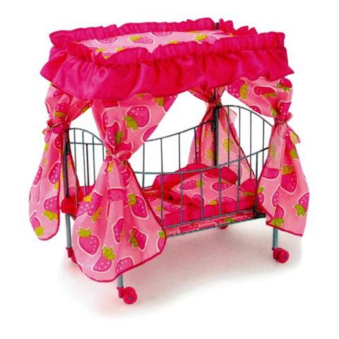 Кроватка для кукол с большим балдахином 9350