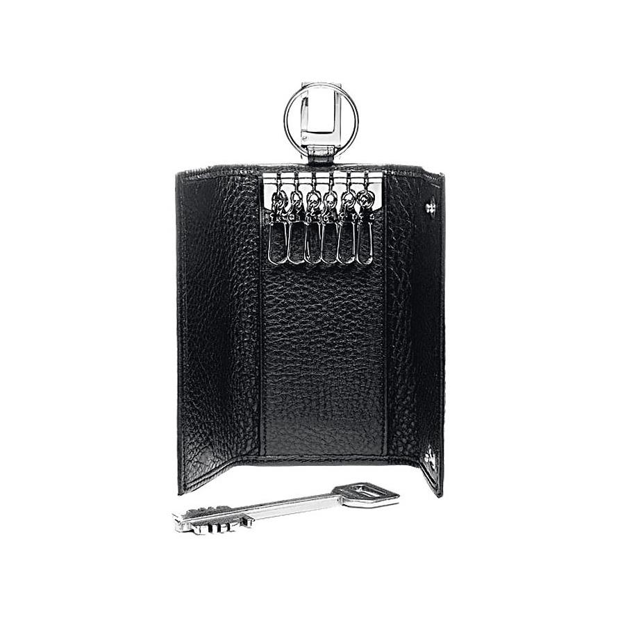 Ключница Piquadro Modus, цвет черный, 6х12х2 см (PC1397MO)