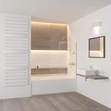 Шторка на ванну стационарная с полочками RGW SC-54 80х150 (8 мм) 03115408-11 прозрачное