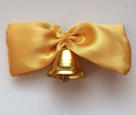 Колокольчик с золотой лентой