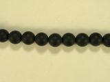 Бусина из оникса черного матового, шар гладкий 6мм