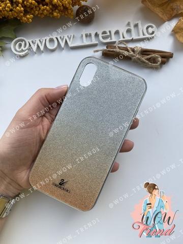 Чехол iPhone 7/8 Swarovski Case /gold/