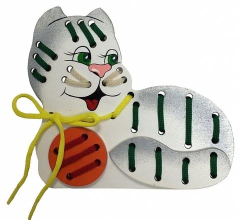 Игрушка-шнуровка кот Мурка, Крона, арт. 193-013