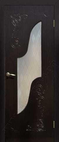 Дверь Сибирь Профиль Равена, цвет венге, остекленная