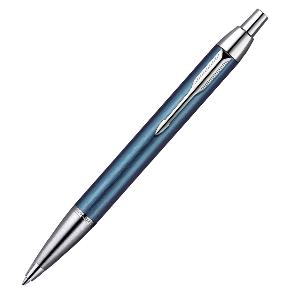 Parker IM Premium - Blue-Black CT, шариковая ручка, M