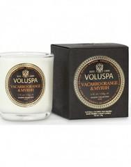 Ароматическая свеча Voluspa Апельсин и мирра в маленьком подсвечнике