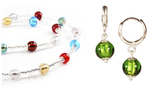 Комплект Carnavale Argento Piccolo (зеленые серьги Piccolo, ожерелье)