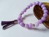 Бусина Жадеит (тониров), шарик, цвет - сиреневый, 8 мм, нить (Браслеты из натуральных камней. Пример)