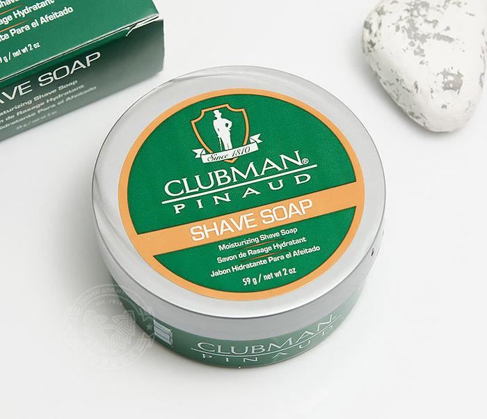 RAZ28005 Натуральное мыло для бритья Clubman Shave Soap (60 гр)
