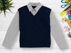 OP293Р-1 рубашка для мальчиков, серая