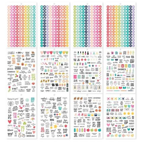 Стикербук - Carpe Diem A5 Planner Sticker Tablet- Calendar, 1138 шт