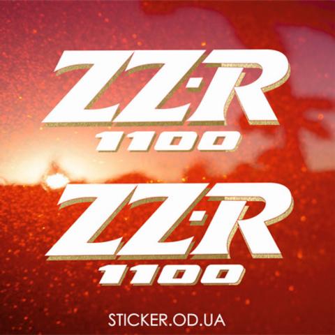 Набор виниловых наклеек на мотоцикл Kawasaki ZZR 1100, 1992