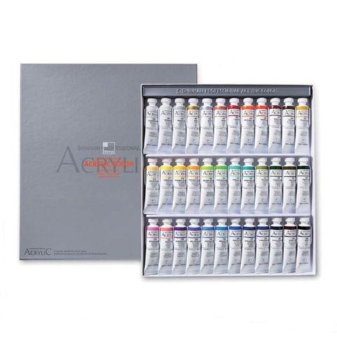 Набор акриловых красок ShinHanart ACRYLIC COLOR PRO, 20 мл, 36 цветов