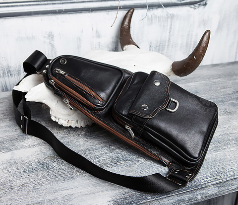 Крутая мужская сумка рюкзак с одной лямкой, ручная работа