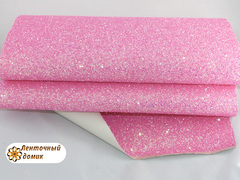 Крупный глиттер конфетный розовый