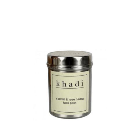 """Сандал и роза"" очищающий убтан для комбинированной кожи Khadi Natural, 50 гр"
