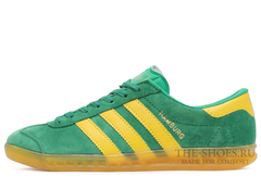 Кроссовки Мужские Adidas Hamburg Suede Green Street