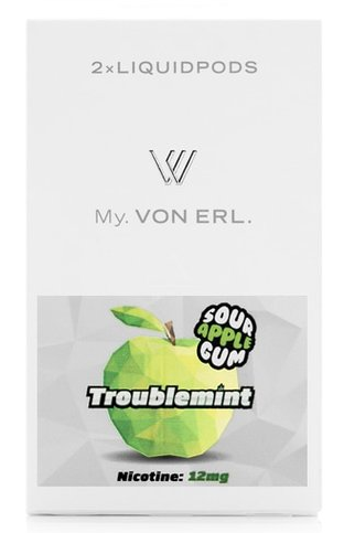 Von Erl картриджи Картридж для My VON ERL (2 шт/уп) Frisco Troublemint Sour Apple 2017-08-16_15-16-07.png