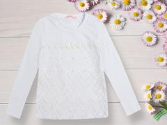 BK1064К-3 кофта для девочек, белая