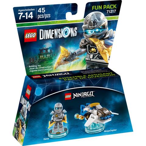 LEGO Dimensions: Fun Pack: Зейн - Титановый ниндзя 71217 — Zane — Лего Измерения