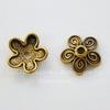 """Шапочка для бусины """"Цветочек""""(цвет - античное золото) 10х3,5 мм, 10 штук"""